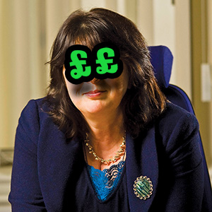 Already stinging us for £160,000 a year - and STILL second-choice City Director Nicola 'Lady Gaga' Yates thinks she ought to be costing us more!